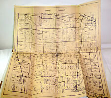 1960s Canaan Township, Madison County, Ohio land map; fold out