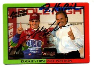 Jeff Gordon/Rick Hendrick original hand signed autographed Action Packed card