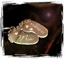 Schlüsselanhänger - Baby Füßchen- Tolle Geschenkidee / Erinnerung - Kind