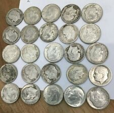 New listing $2.50 Face value roosevelt dimes lot collection 90% Silver No Reserve