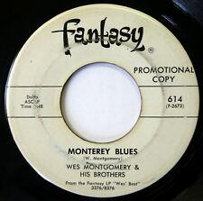 WES MONTGOMERY 45 Monterey Blues/June in January FANTASY jazz VG- promo d1699