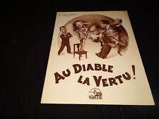 AU DIABLE LA VERTU Liliane Bert louis de funes   scenario presse cinema 1952