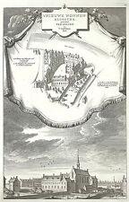 Antique map, Het Nieuwe Nonnen Klooster genaamt ter Lelien