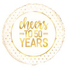 """50 anni 50th ANNIVERSARIO Diamante Decorazione Festa Matrimonio 18"""" Foil Balloon"""