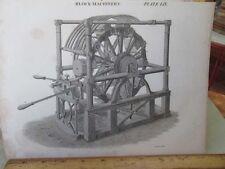 Vintage Print,BLOCK MACHINE,Plate 59,Edinburgh Encyclopedia,c1800