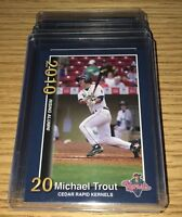 (5) Mike Trout Rc 2010 MINOR LEAGUE Cedar Rapids #1 Rookie card Mint Lot.