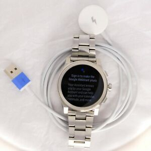 MKT5037 Michael Kors Access Grayson Men's Smartwatch Gen 2 Charger Bundle Silver
