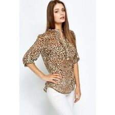 Cotton Animal Print Casual Blouses for Women