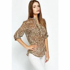 Zara Cotton Animal Print Casual Tops & Shirts for Women