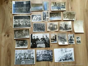 RARE Military Russia USSR Soviet Photos car truck army soldier Officers flags 23