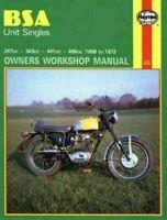 BSA Unit Singles 1958 - 1972  Haynes Motorcycle Repair Manual