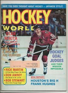 1974 January Hockey World Stan Mikita Chicago Black Hawks