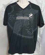 Official Vasco de Gama Black Vneck Short Sleeve Sports Shirt Size Large