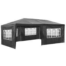 Gazebo da giardino tendone tenda per festa party con parti laterali 3x6 m grigio