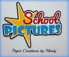 CRAFTECAFE MINDY SCHOOL PICTURES DIECUT premade paper piecing TITLE scrapbook