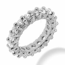 Gold Band 21 x 0.10 ct F-G Si1 2.52 ct Round Diamond Eternity Ring 14K White