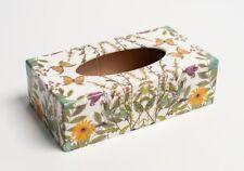 Cubierta de la caja de tejido Prados rectangular de madera hechas a mano para casas & Hoteles