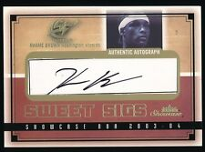 KWAME BROWN 2003-04 FLEER SHOWCASE SWEET SIGS AUTOGRAPH 160/390 *WIZARDS*