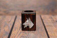 Doberman pincher - wooden candlestick with image of a purebred dog, Art Dog USA