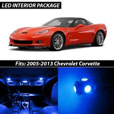 2005-2013 Chevrolet Corvette Blue Interior LED Lights Package Kit