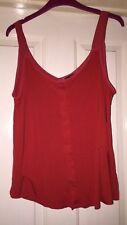 Next Red Floaty Sleeveless Top, Size 12-14 - Fab!