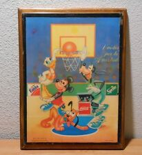 Walt Disney Coca Cola Basketball Unidos por la Amistad Wall Hanging Mickey Fanta