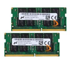 Micron 2x 8GB 2Rx8 PC4-2400T DDR4 2400Mhz 260Pin SODIMM Laptop Memory Non Ecc $q