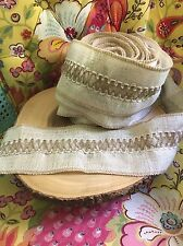 "Burlap Ribbon Lacing Insert 3.5"" Wide Crafts DIY Wedding Party By The Yard"