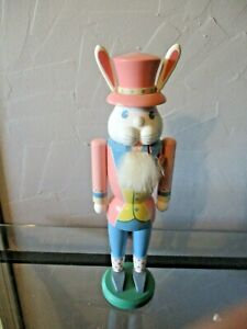 """vtg Easter Rabbit wood Nutcracker Erzgebirge  12.5"""""""