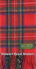 Stewart Royal Modern Clan Winter Neck Scarf Brushed Lambswool Scottish Tartan