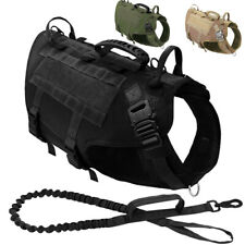 Military No Pull Dog Harness Lead Large Breed Tactical Vest Front Clip Heavy K9