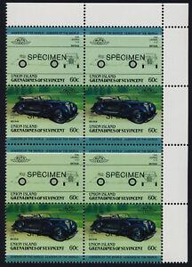 St Vincent Grenadines Union Is 149 TR Block Specimen o/p MNH Car, Lagonda