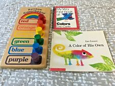 Teaching materials, Colors, Matching, Simple pegboard, Puzzle, Books, Preschool