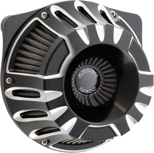 Arlen Ness Black Inverted Deep Cut Air Cleaner Kit 17-19 Harley Touring Softail