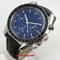 40mm bliger blue sterile dial bow glass week indicator automatic mens watch B228