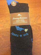 TOMMY BAHAMA Men's Socks FIN & Tonic Cards Poker BLACK GREY 4 Pack