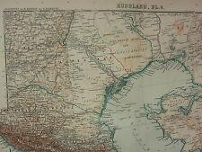 1907 DATED MAP ~ CENTRAL EAST RUSSIA CASPIAN SEA BAKU KARS DAGHESTAN