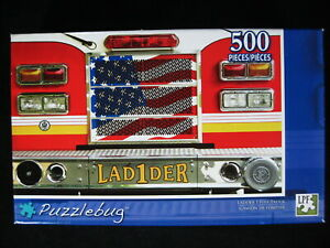Ladder 1 Fire Truck 500 pc Jigsaw Puzzle Emergency Vehicles Puzzlebug