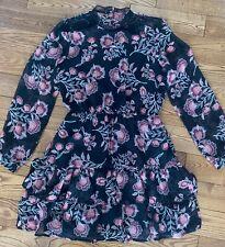 BB Dakota Whiskey Tango ruffled pretty dress size S NWT floral black