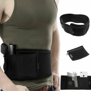 Portable Concealed Belly Band Holster Carry Pistol Gun Left Hand Draw Hide Belt
