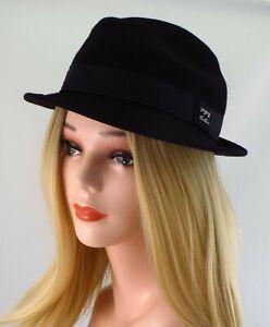 Billabong Fedora Hat ~ Black ~ Size S/M 100% Wool Felt Unisex
