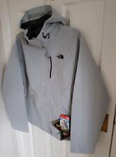 North Face RRP £190 Womens Dryzzle Jacket Goretex Large L Grey Black 2 Brand New