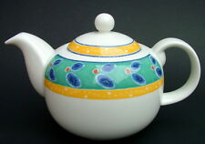 Discontinued Royal Doulton Cabana Pattern 1.75 Pt Teapot & Lid 14cm Looks in VGC