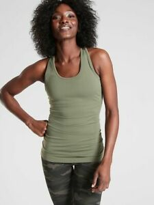 NWT Athleta Speedlight Tank XS Laurel Olive Racerback Fitted Wicking Seamless