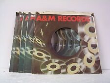 5- A & M RECORD COMPANY 45's SLEEVES  LOT # A-266