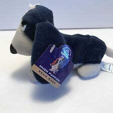 Vintage Navy Hush Puppies BEAN BAG Plush BASSET HOUND Dog by APPLAUSE- New