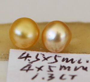 "5, 5mm ""natural""  Australian golden south sea pearl 1.3CT"