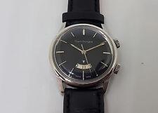 Vintage verwendete Girard Perregaux Alarm Schwarz Zifferblatt Datum Mann 's watch