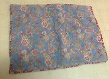Pottery Barn Quilted Floral Boho Botanical Standard Pillow Sham w/ Ties *WoW*