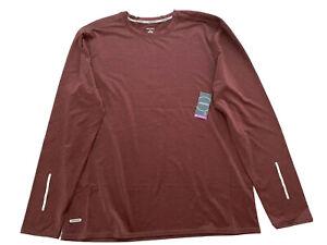 Jockey Performance Long Sleeve T-Shirt Odor Control Wicking Burgundy Men's L NWT